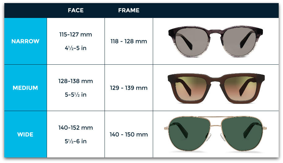 Total Frame Width Glasses : Best Sunglasses for Your Face