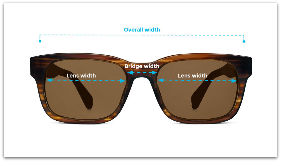 How to measure sunglasses width