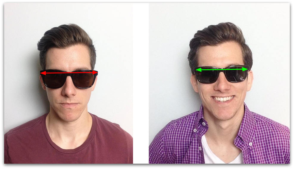 Wide vs narrow sunglasses