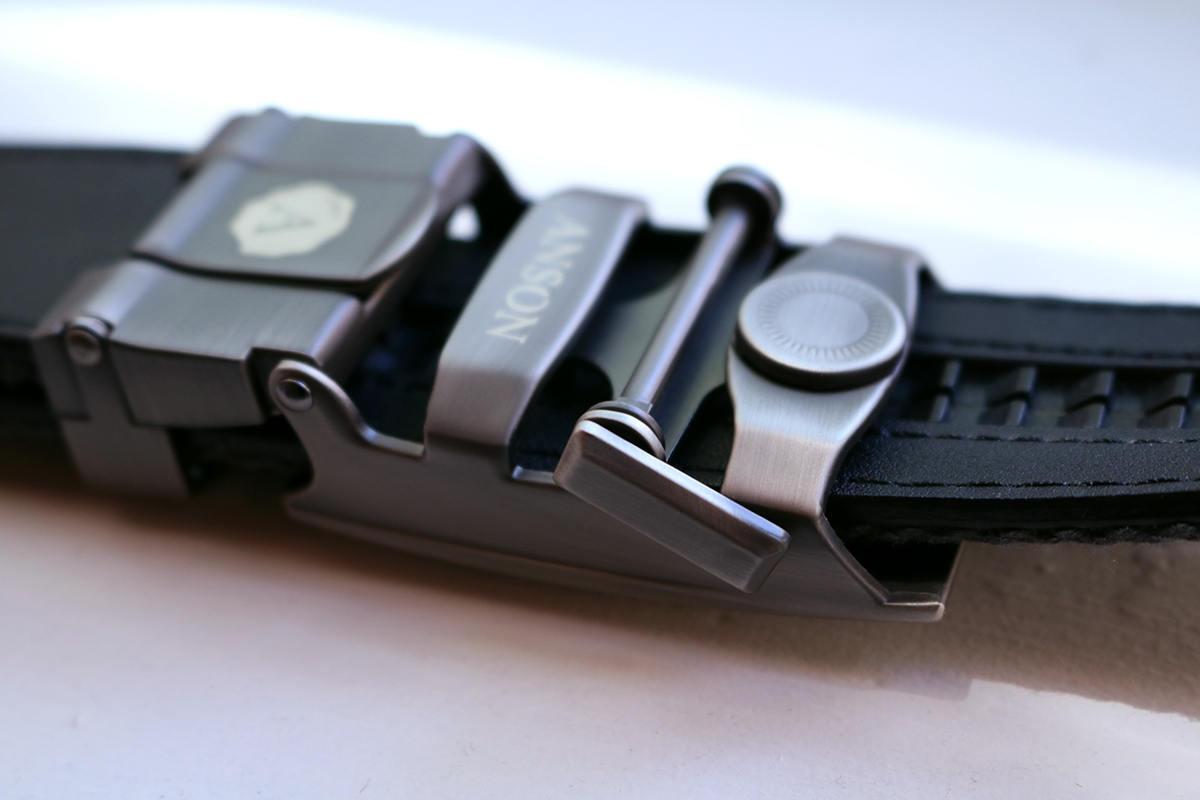 Slide belt release lever