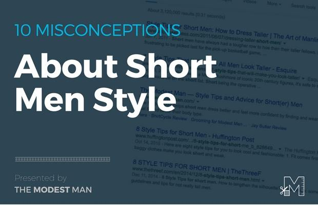 Style advice for short men