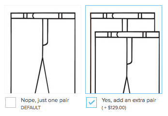 Add an extra pair of pants