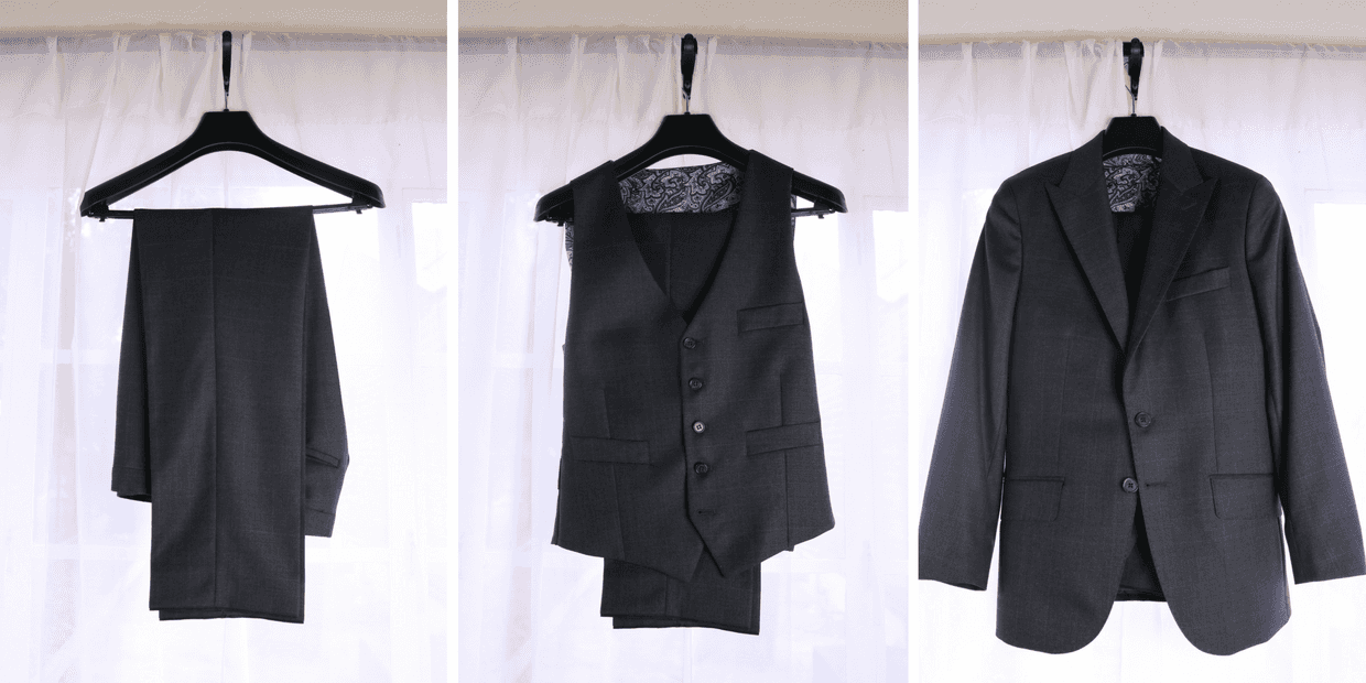 How to hang a suit