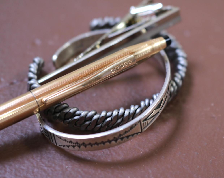 Metal accessories close up