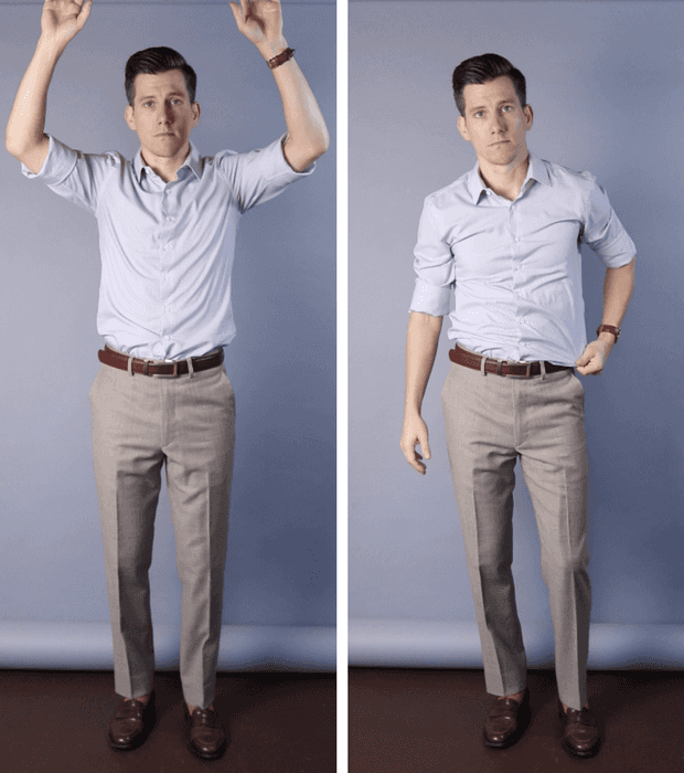 Shirt comes untucked