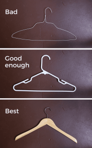 Types of shirt hangers