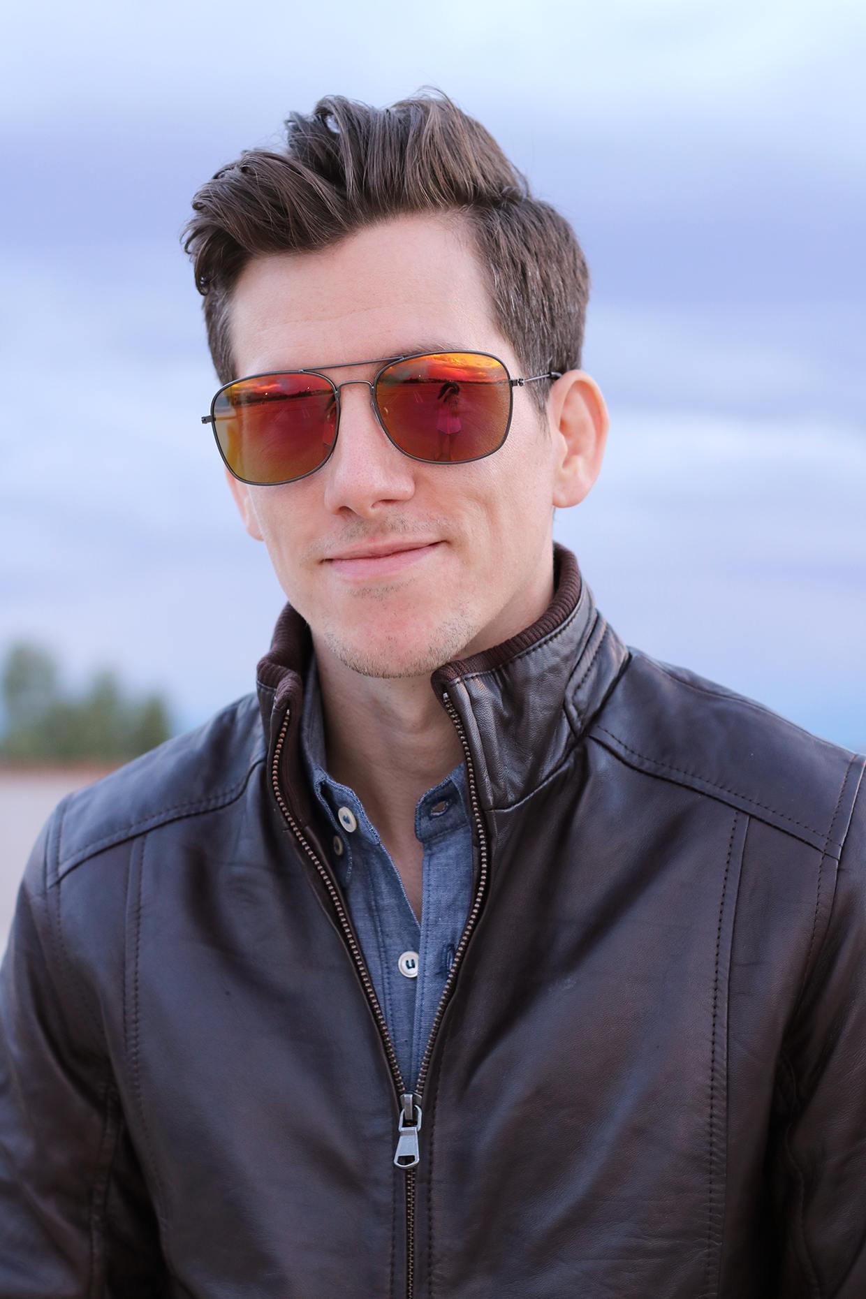 Leather jacket for short men