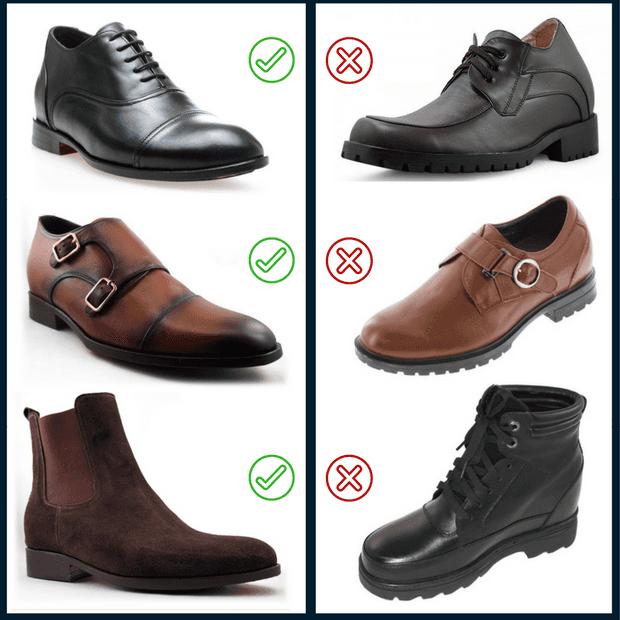 Stylish vs ugly elevator shoes