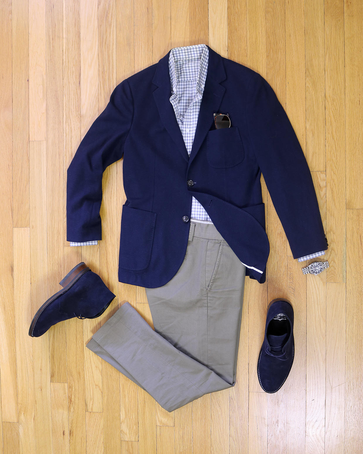 Business casual chukka outfit