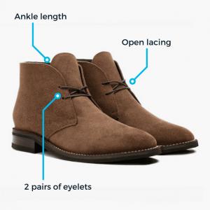 Chukka boot characteristics