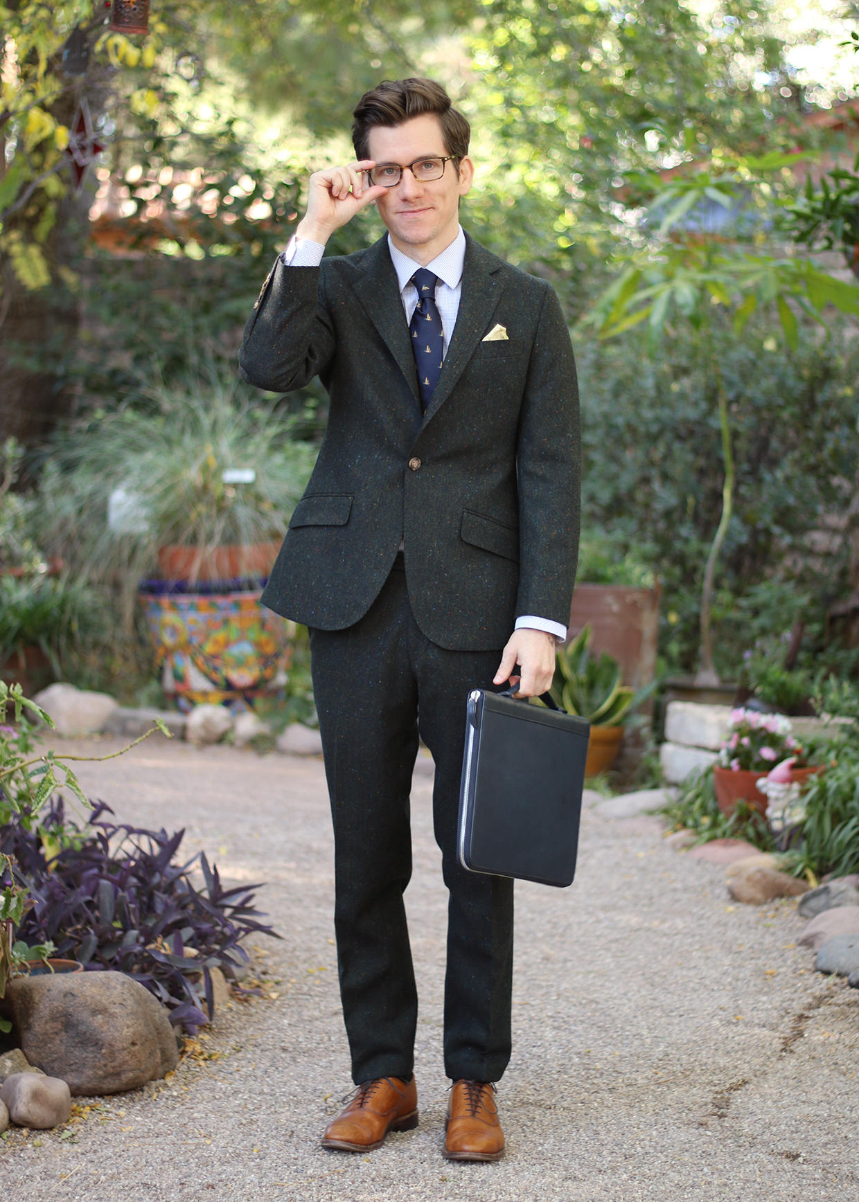 Oliver Wicks Donegal tweed suit