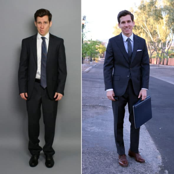 Suit fit good vs bad