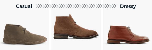 Types of chukka boots