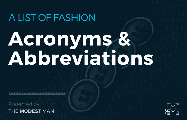 Fashion acronyms