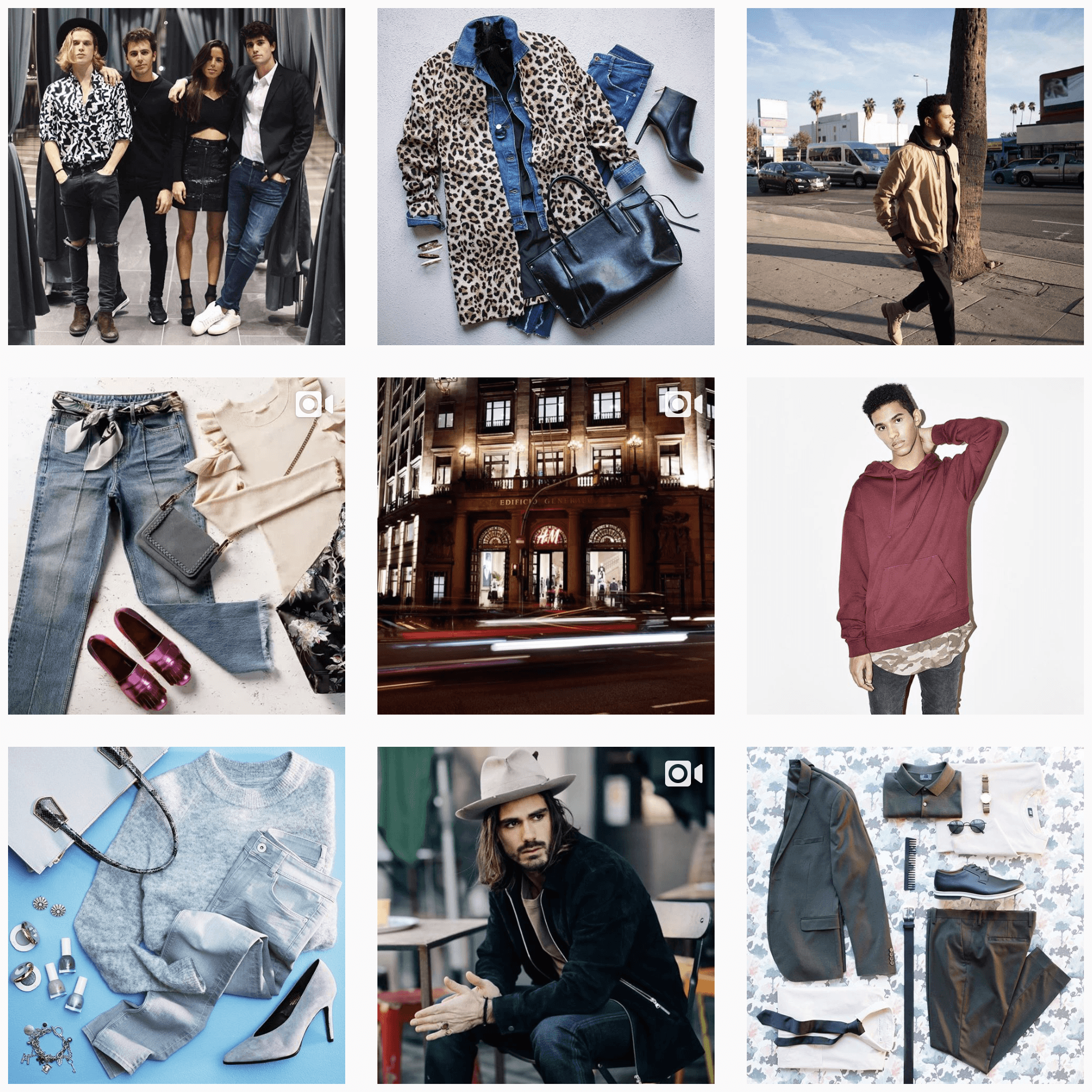 H&M Instagram feed example