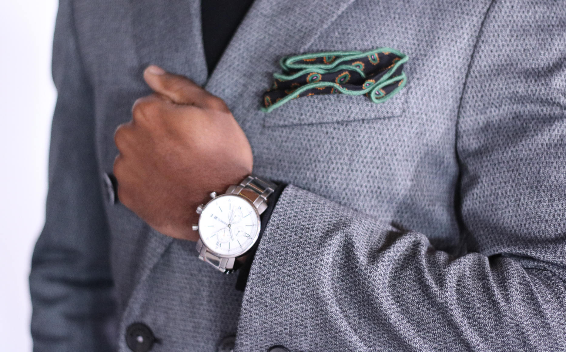 Watch and pocket square