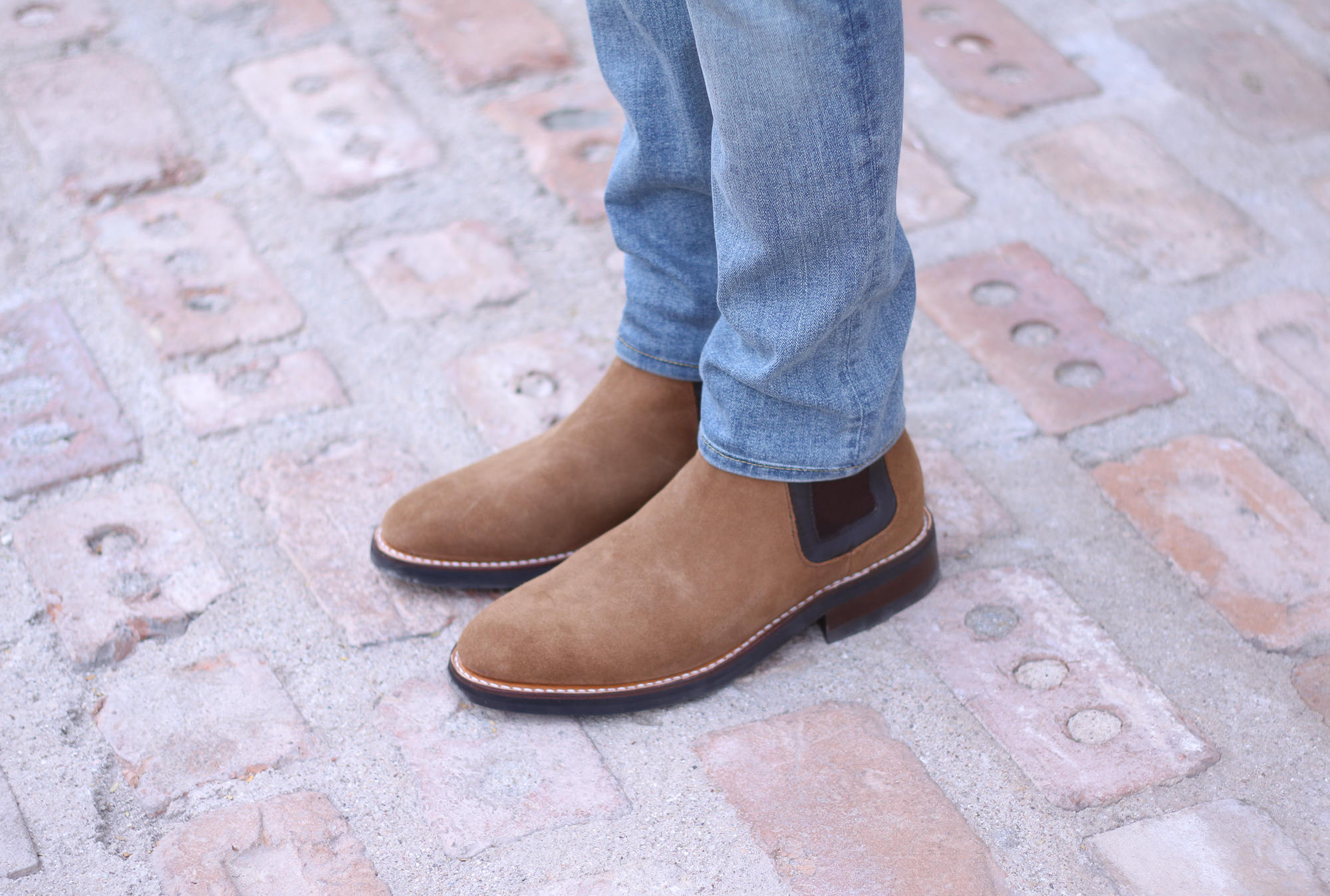TBC honey suede Chelsea boots