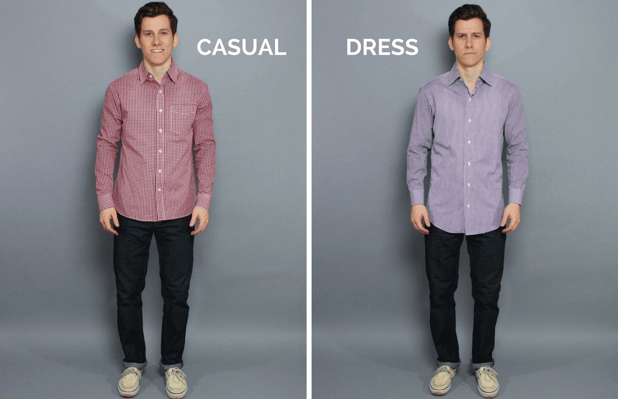 Casual shirt vs dress shirt