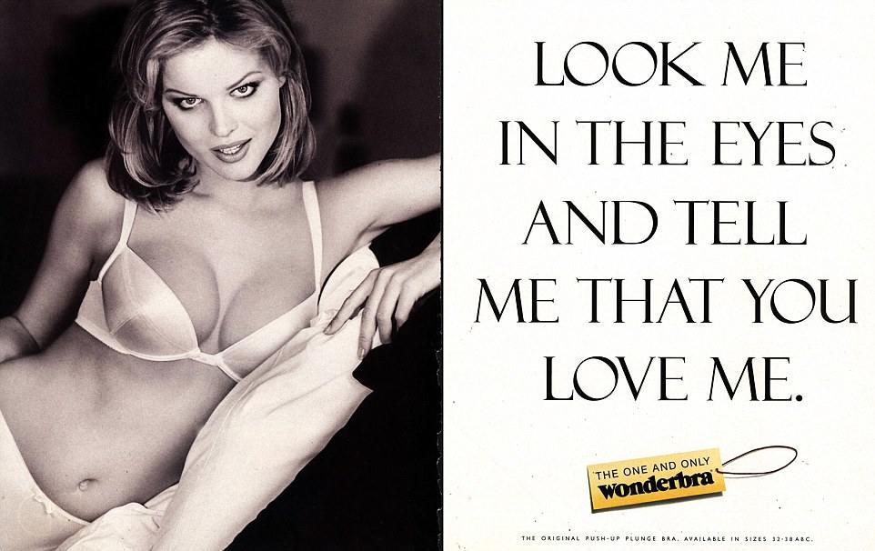 Vintage Wonderbra advertisement
