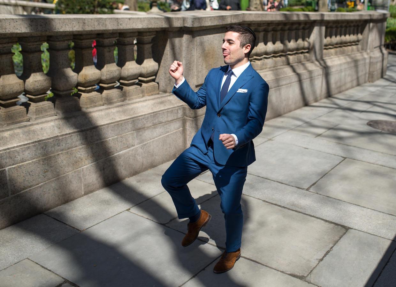 Justin dancing