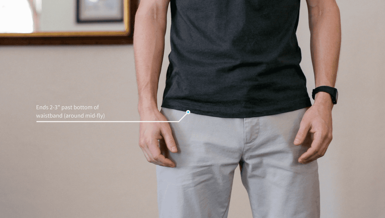 T-shirt correct length