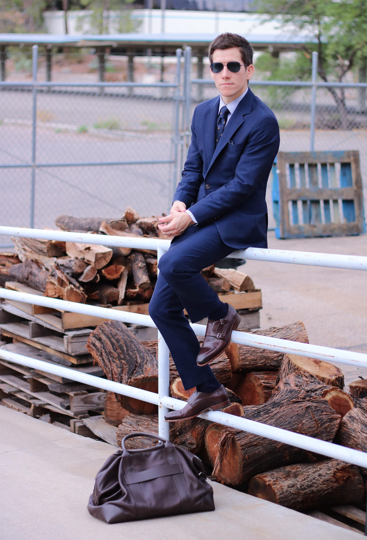 Oliver Wicks suit and shoes