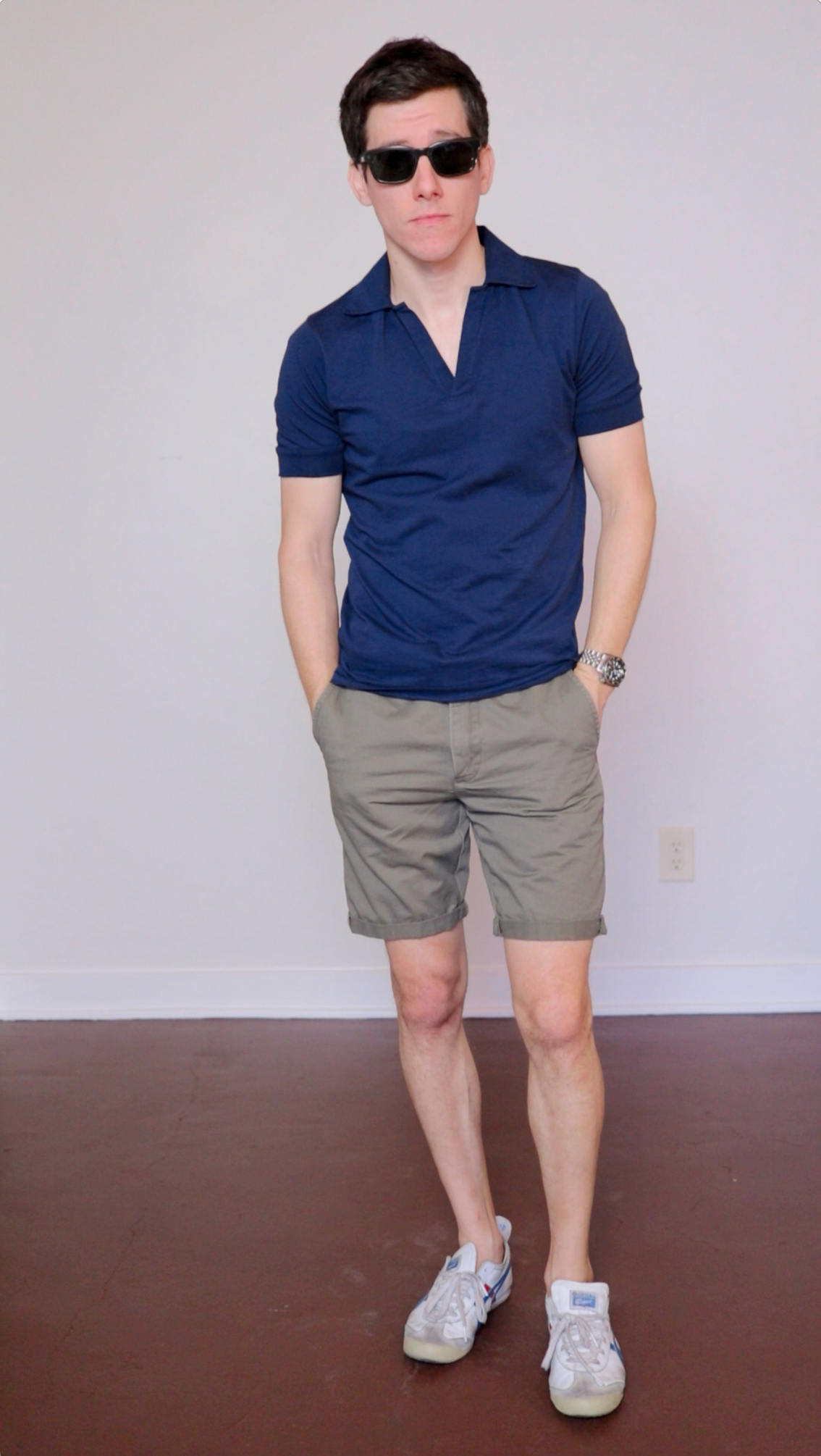 Polo shirt and chino shorts