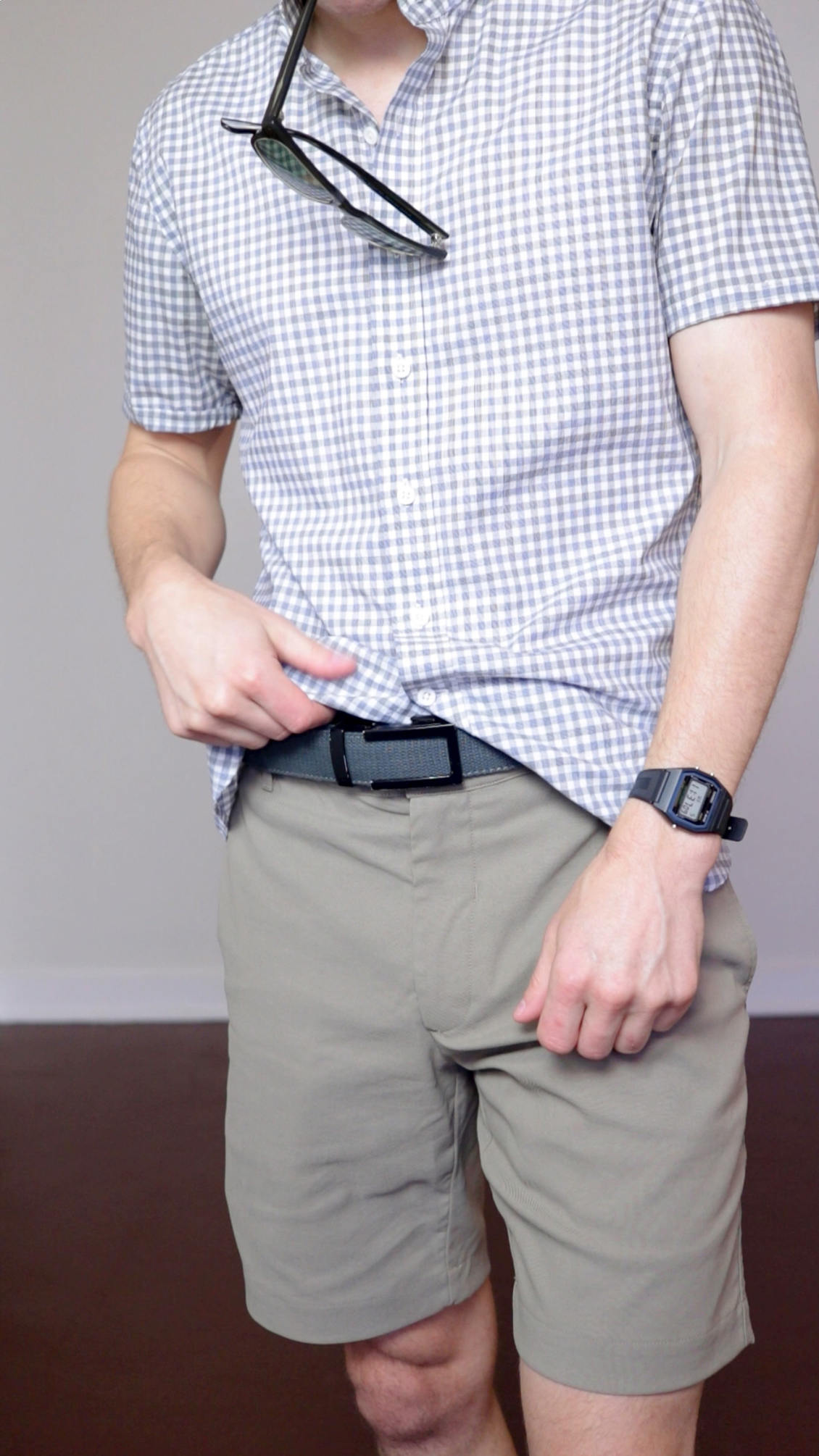 Grey canvas Anson belt