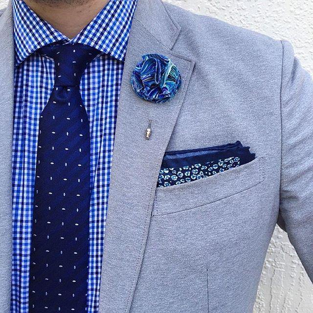 Blue tie and shirt