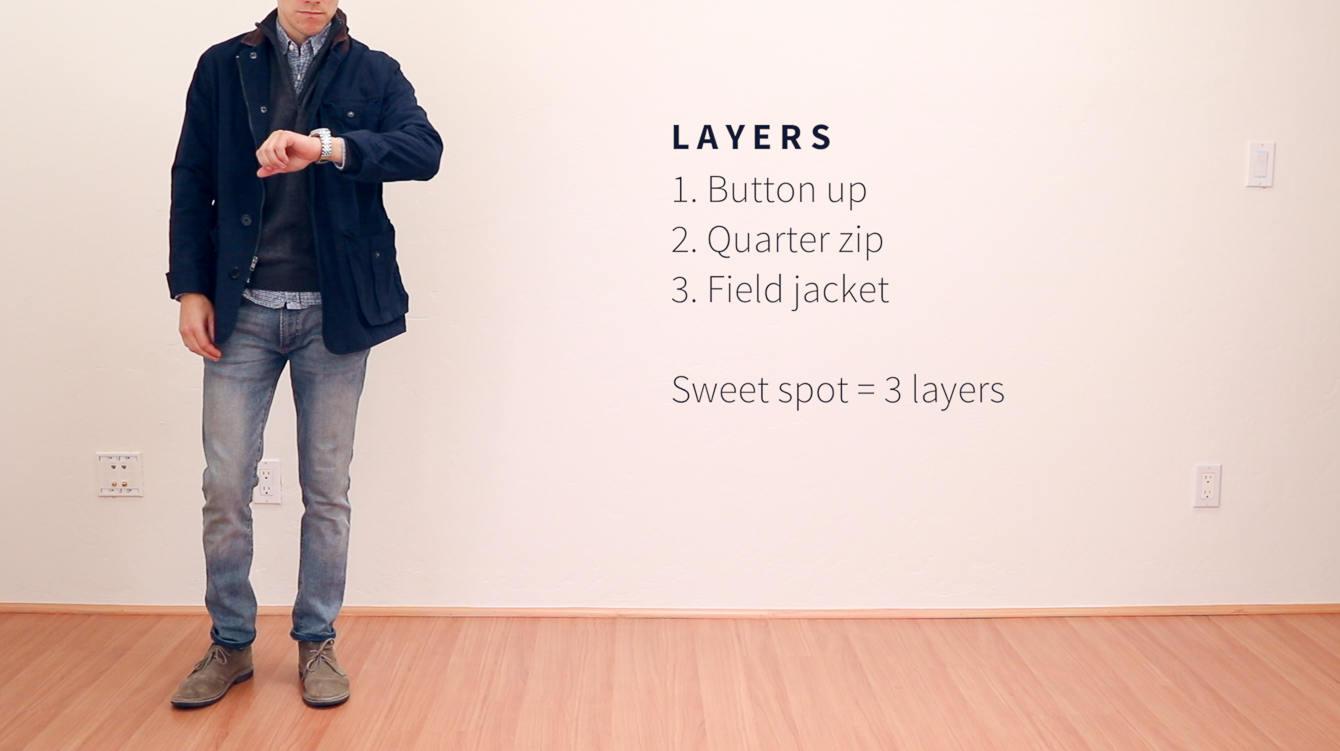 Wearing layers