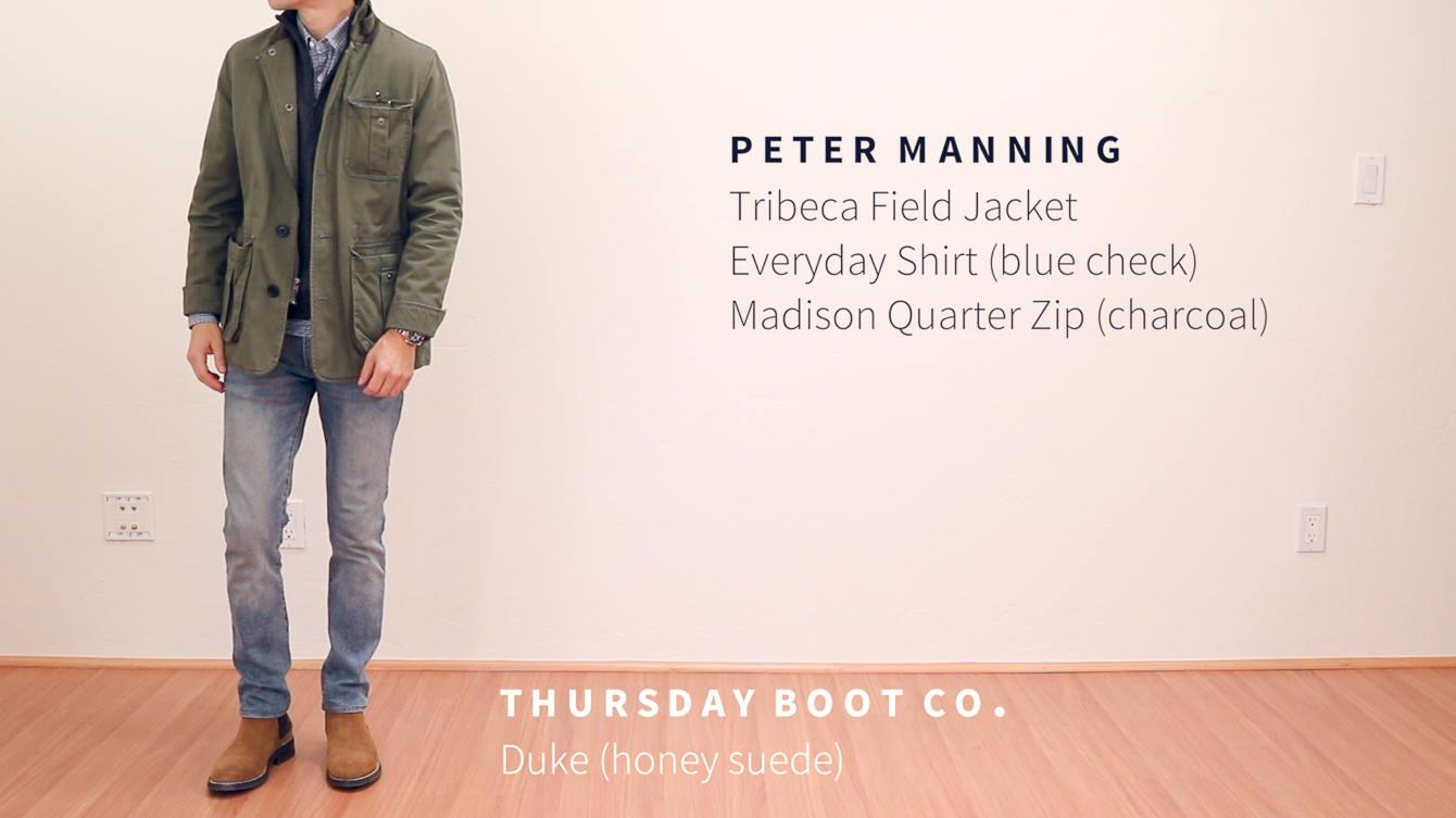 Field jacket Chelsea boots
