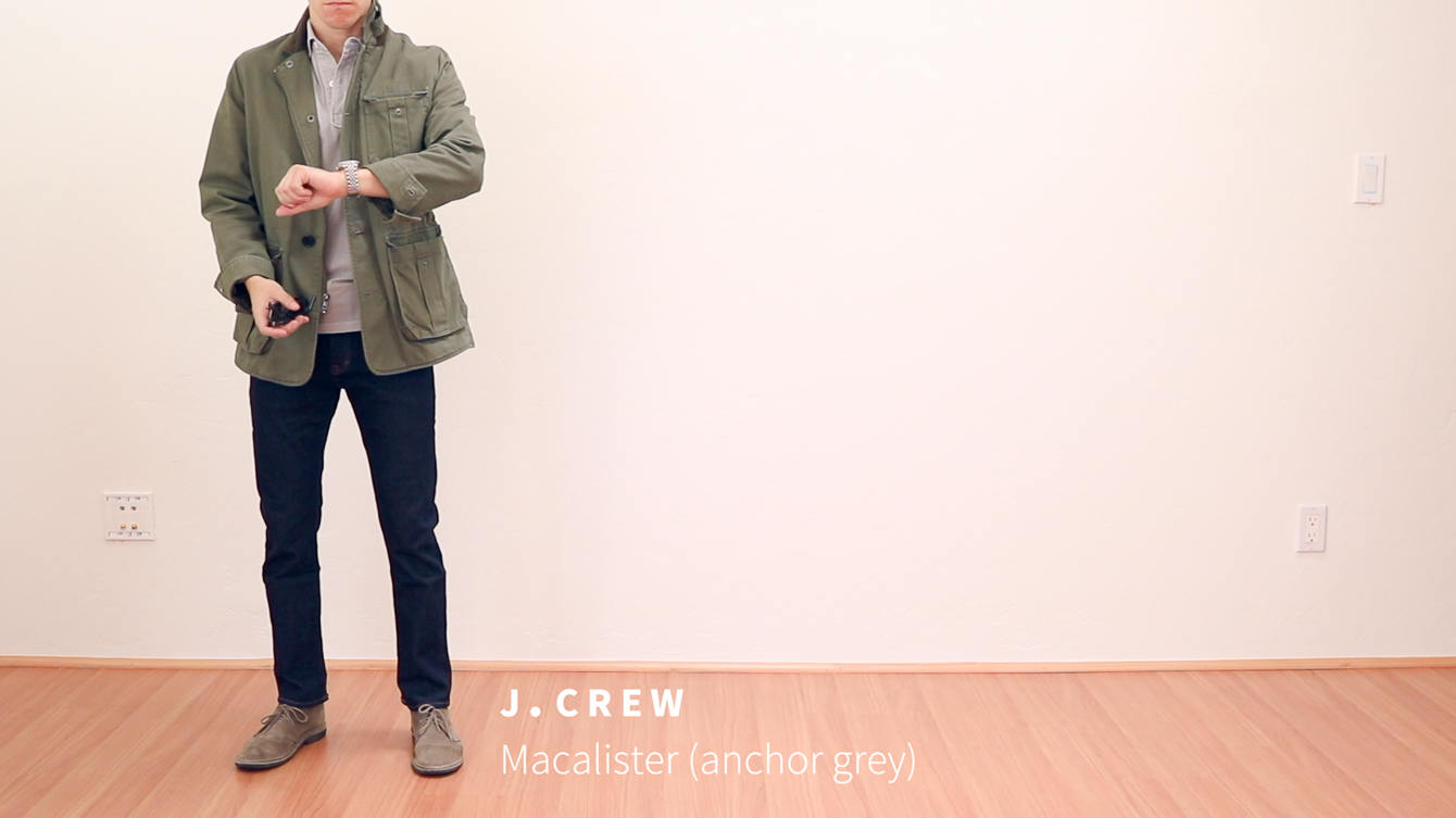 J. Crew Macalister anchor grey