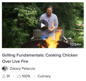 Grilling over live fire