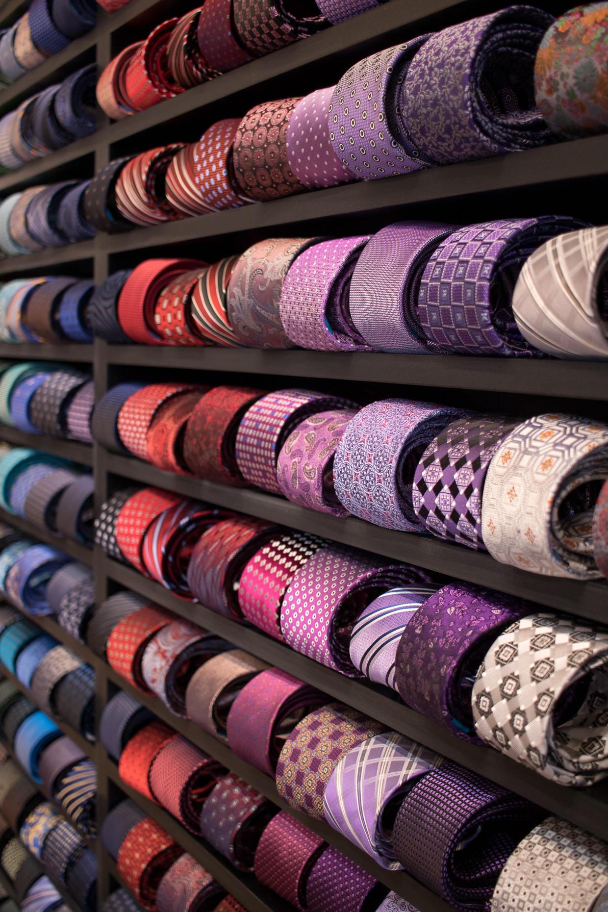 Wall of neckties