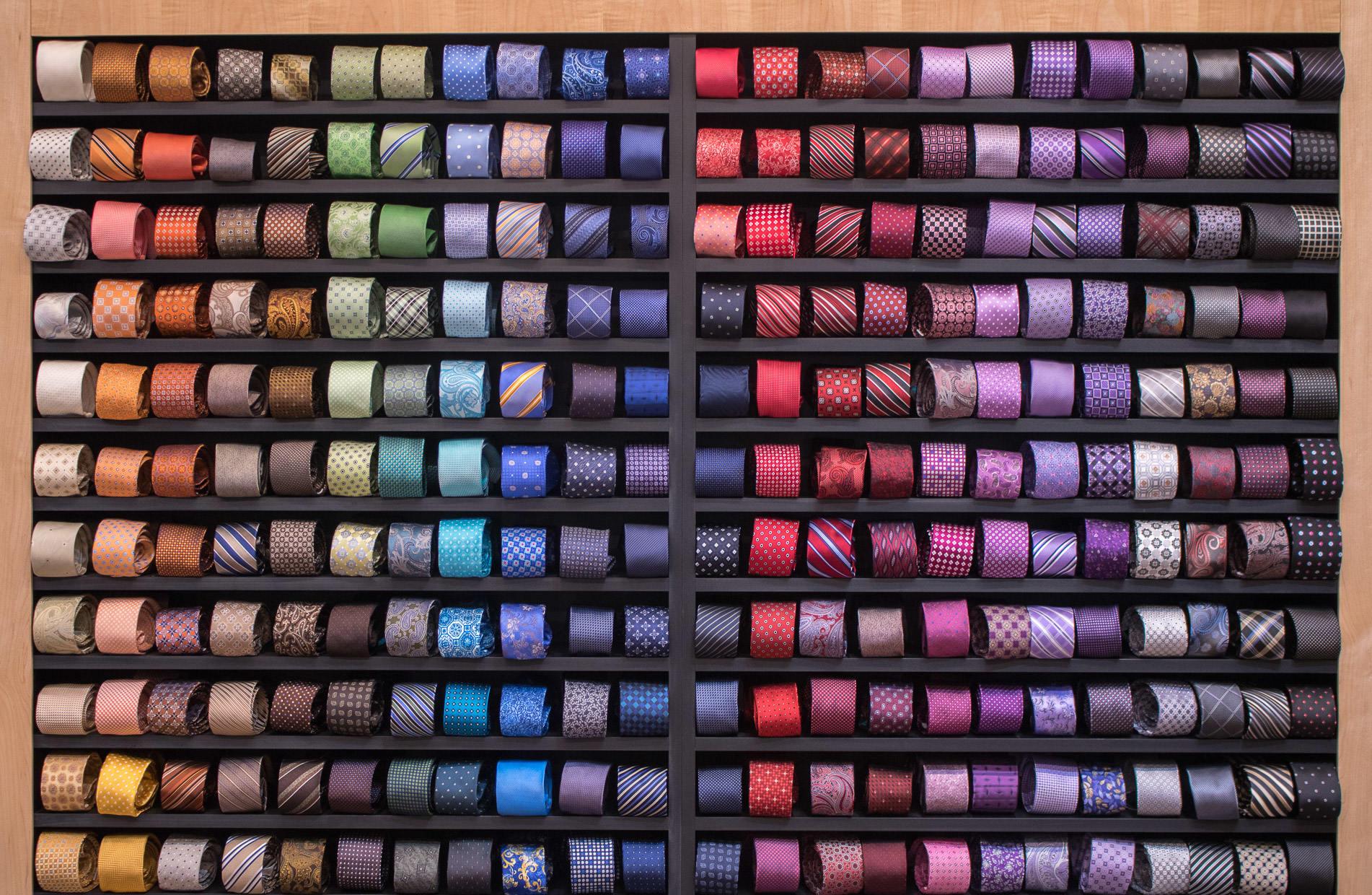 Wall of ties
