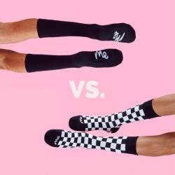 Bold vs traditional socks