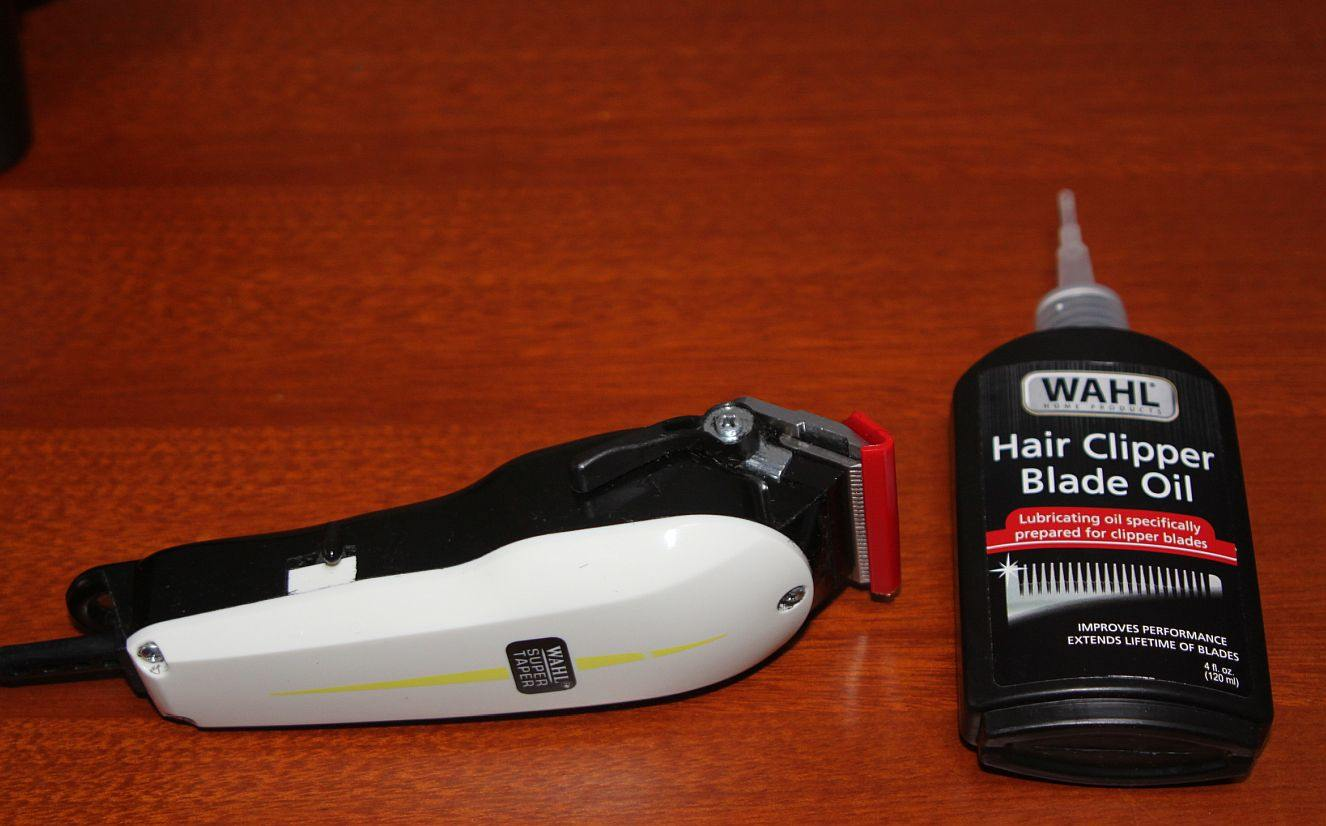 trimmer with blade oil