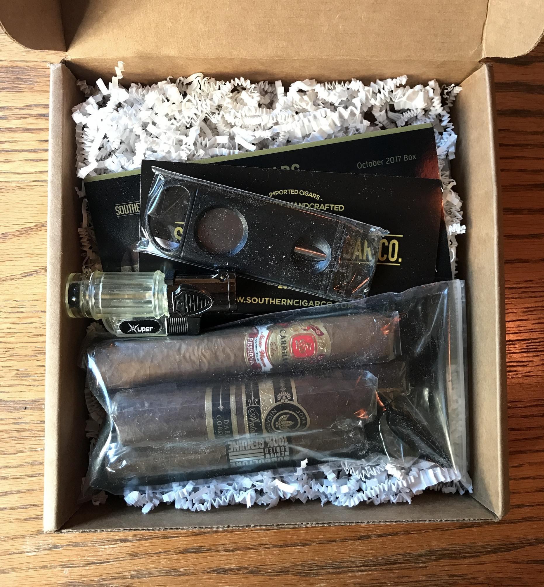 Opening cigar box
