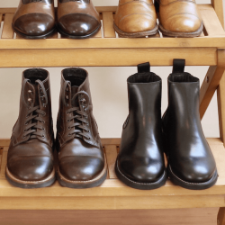 Black boots vs brown boots