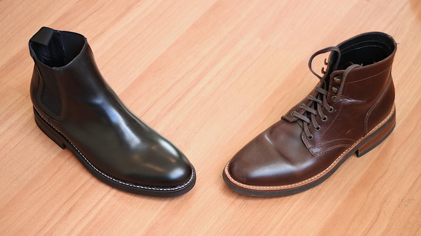 Black vs brown boots