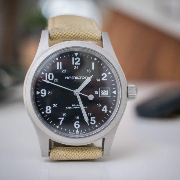 Hamilton Khaki Mechanical watch on table