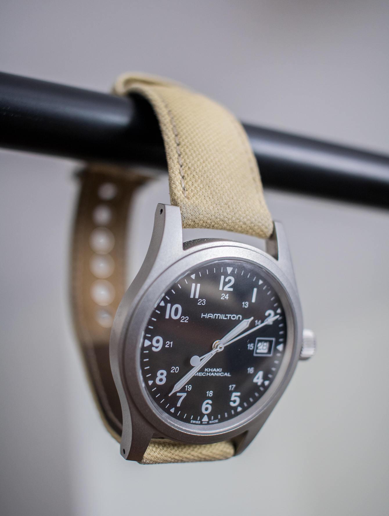 Hamilton Khaki Mechanical watch hanging