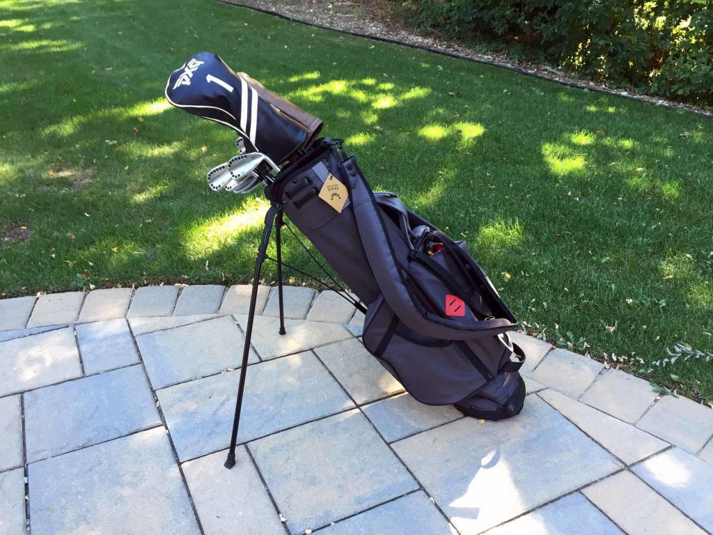 Golf bag on patio