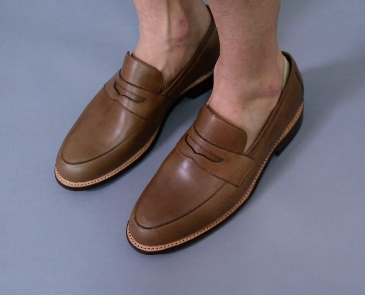 Casual loafers are great shoes to wear with shorts