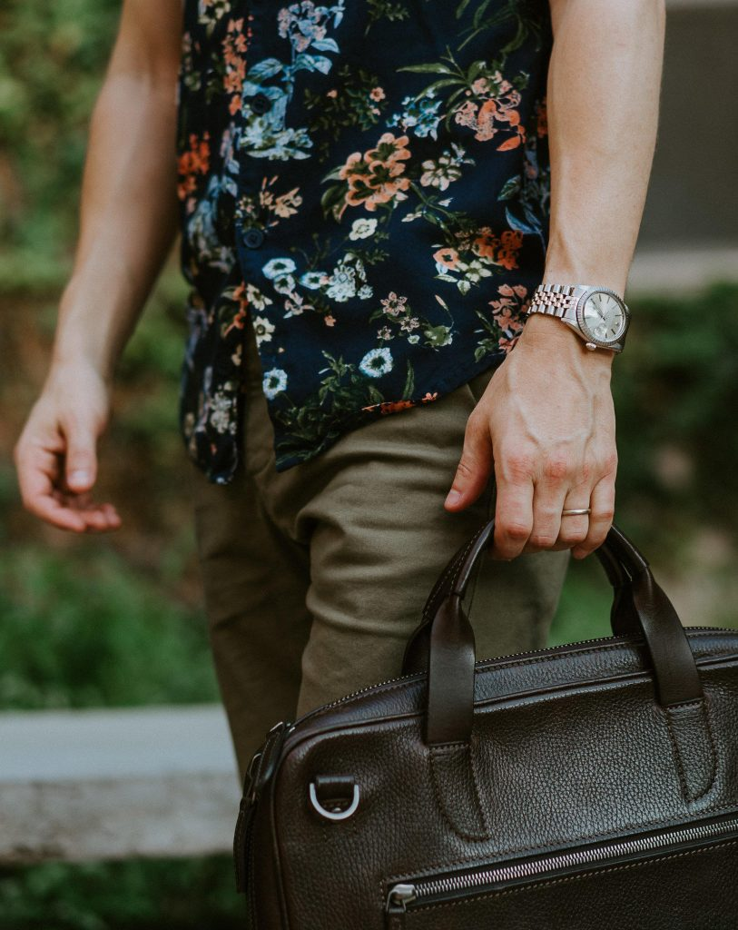 Watch and laptop bag