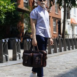 Short sleeve button up and chinos 1