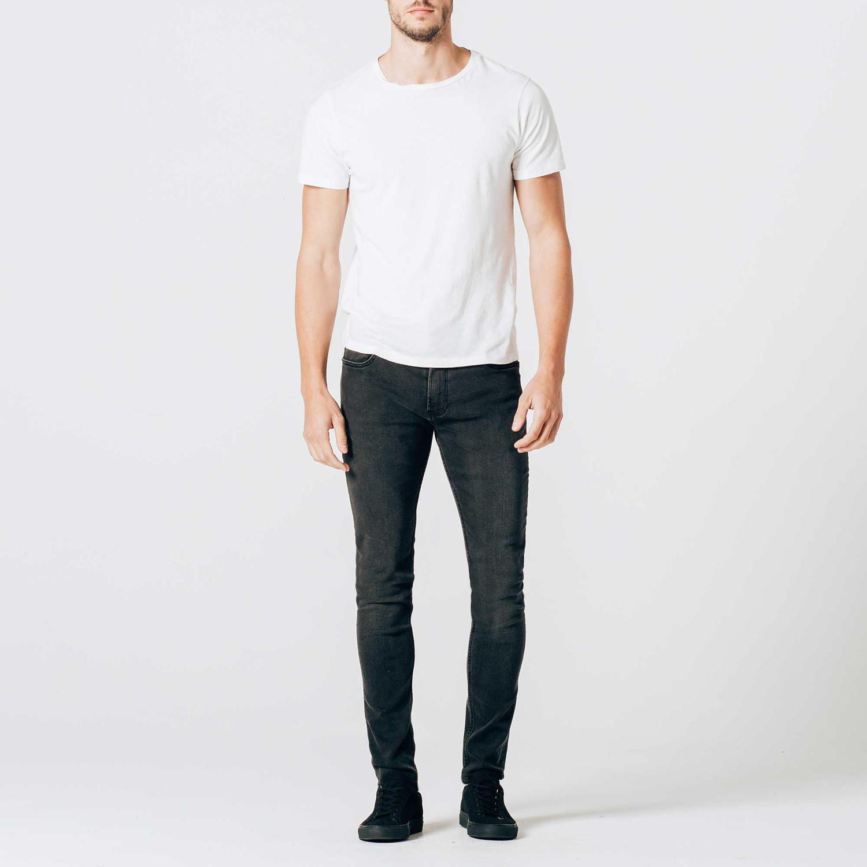 Mens faded black skinny jeans