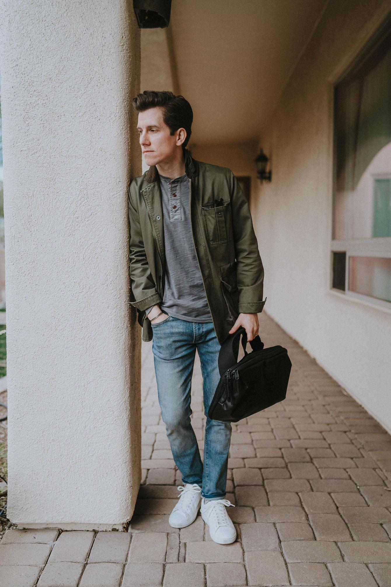 Jeans henley field jacket