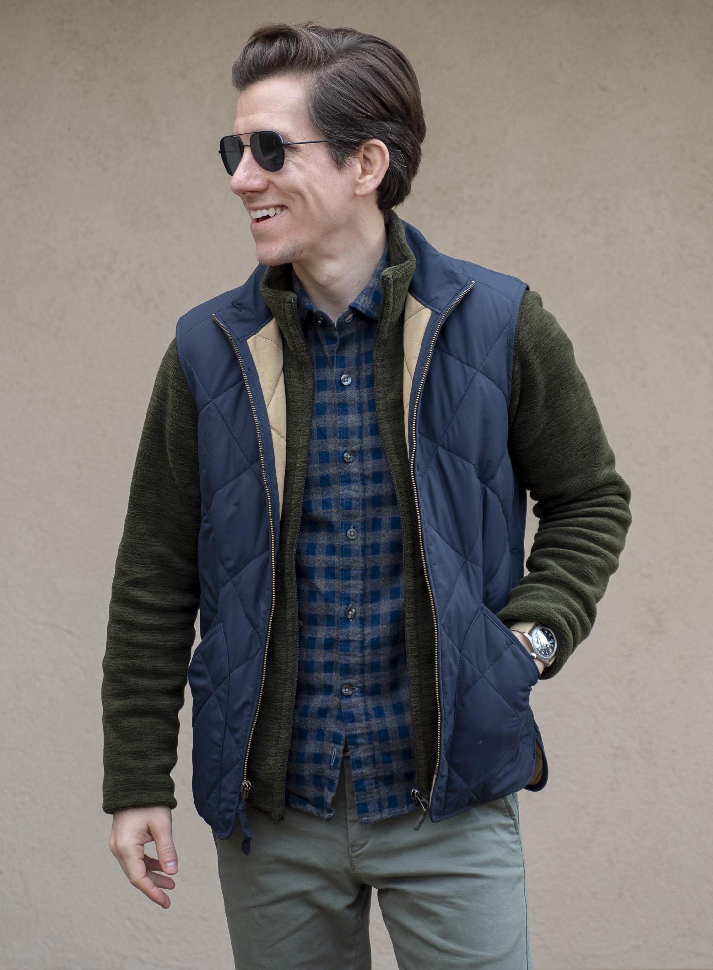 Flannel shirt fleece and vest