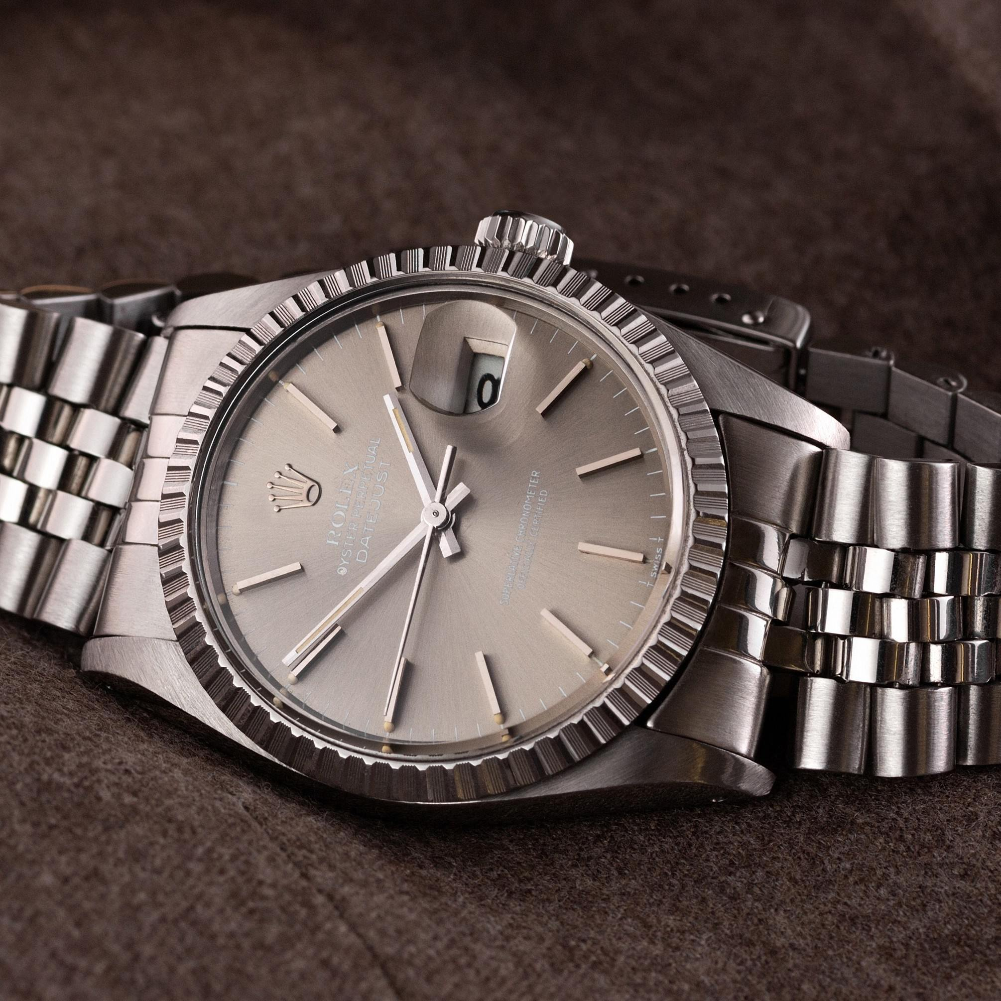 Rolex Datejust 16030 taupe dial - The Modest Man - crop